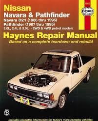 nissan navara d21 pathfinder 1986 1996 repair manual