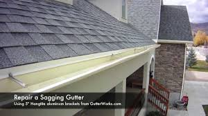 how to repair gutters. Wonderful How How To Repair A Saggy Gutter In To Gutters E