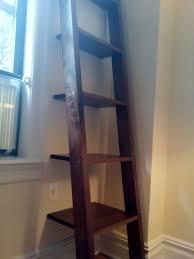 Custom Made Ladder Shelves, Leaning Bookshelf