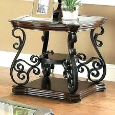 wrought iron and glass end tables wood and wrought iron end tables end tables end tables