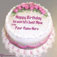 Roses Decorated Birthday Cake For Mom Name Generator Birthday