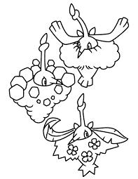 Pokemon Paradijs Kleurplaat Wormadon Sandy Cloak Trash Cloak En
