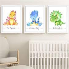 dinosaurs nursery wall art for baby