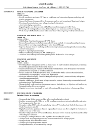 Financial Associate Resume Samples | Velvet Jobs