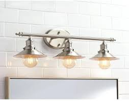above mirror bathroom lighting. Above Mirror Bathroom Lighting Retro 3 Light Brushed  Nickel Vanity .