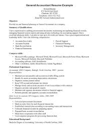 Sales Associate Resume Examples General Accountant Resume Example