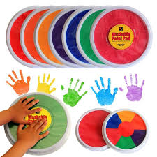 multicolor hand finger painting set colored craft ink pad pigment kids toys diy graffiti tool supplies