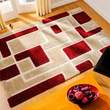 venice imperial red beige abstract rug by flair rugs 1