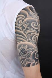 Black And Grey Clouds Tattoo On Right Half Sleeve Tattoo Bytes