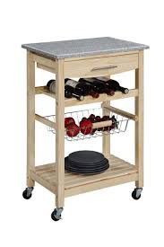 Granite Top Kitchen Trolley Kitchen Island Cart With Wine Storage Best Kitchen Ideas 2017