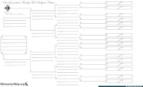 family tree template printable pedigree family tree template free printable genealogy chart printable family tree template