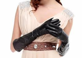 kursheuel luxury women s nappa soft plush lined 38cm long leather gloves autumn and winter warm gloves