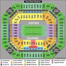 Sun Life Stadium Virtual Seating Chart 75 Unusual Miami Dolphins Stadium Virtual Seating Chart