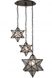 21 w moravian star 3 lt cascading pendant