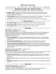 Example Of Administrative Assistant Resume Bestresume Com