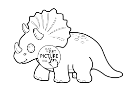 Small Picture Funny dinosaur triceratops cartoon coloring pages for kids