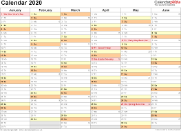 Printable Calendars 2020 With Holidays Calendar 2020 Uk 16 Free Printable Pdf Templates