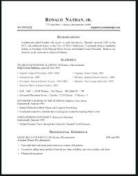 Resume Templates For Job Application Resume Templates First Job Good ...