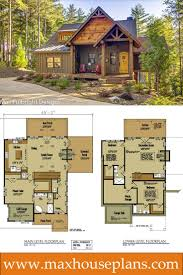 cabin floor plans. Small Cabin Home Plan With Open Living Floor Plans N