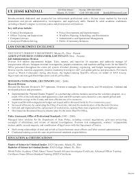 Federal Resume Examples Free Templates Law Enforcement Instructor