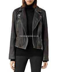 women s moto allsaints popular cargo quilted leather biker jacket in black gray black