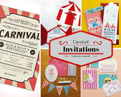 Circus Party Invitation Magnificent Carnival Party Ideas Circus Party Ideas At Birthday In A Box
