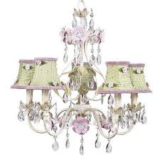 jubilee collection flower garden ivory sage pink five light mini chandelier with green