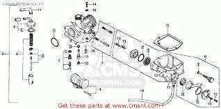 honda ct70 parts actusre us honda ct70 trail 70 k4 1975 usa carburetor k3 77 schematic
