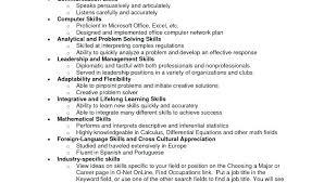 Skills In A Resume Skills Resume Templates General Resume Template