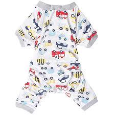 Lovinpet Dog Pajamas Cotton Pet Clothes Safe Snap Buttons