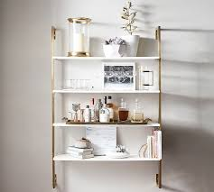 wall shelves olivia wall mounted shelves pottery barn yfhghzy