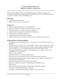 10 Medical Assistant Description For Resume Resume Samples