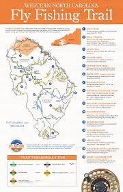 Map Of Access Points For Trout Fishing On The Tuckasegee