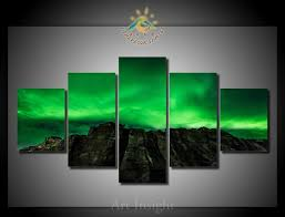 5 pieces set northern lights wall art paintings picture print on canvas for home decoration