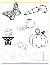 Small Picture ORANGE Color Activity Sheet Repinned by Totetudecom Coloring