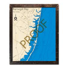Tide Chart Lavallette Nj Barnegat Bay Nj Jersey Shore 3d Nautical Wood Maps