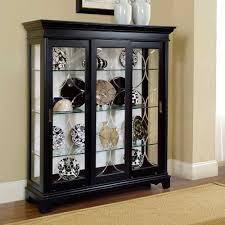 Curio Cabinet Lights Oxford Black Corner Curio Cabinet Best Home Furniture Decoration