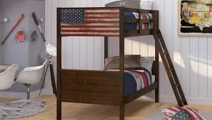 Liquidation Bedroom Furniture Twin Twin Patriot Bunk Bed Crazy Jays Furniture Sleep Shop