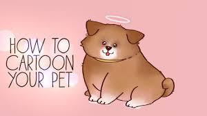 your pet into a cartoon tutorial