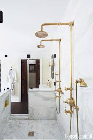 Marble Bathrooms 18 Gorgeous Marble Bathrooms With Brass Gold Fixtures