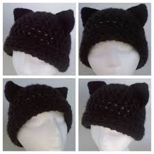 Cat Hat Crochet Pattern Magnificent Women's Crochet Kitty Cat Hat Pattern By Yvettemariesfineart On