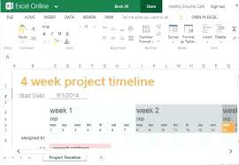 How To Make A Project Timeline In Excel Free Simple Template Plan ...