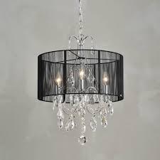 brianna cotton threads and chrome maury crystal chandelier 16 w x 7 8 h