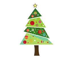 Faux christmas tree, fabric christmas tree, fabric tree, tree sticker, tree  decal