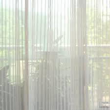 Dreamy Yarn Striped Lines Modern sheer curtains