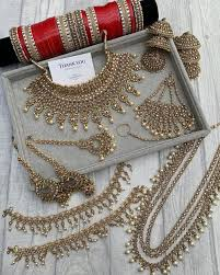 Indian Asian Bridal Wedding Party Jewellery. Worldwide shipping. in 2020 |  Indian bridal jewelry sets, Indian wedding jewelry sets, Bridal accessories  jewelry