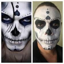 sugar skull makeup inspiration on the left my model on the rt sugarskull rubymakeupacademy bennye mehron