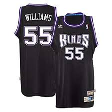 Sports Outdoors Swingman Adidas amp; Jason Jersey Sacramento com Amazon Kings Williams Men's Nba Black