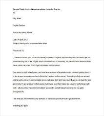 Letter Of Recommendation Template Teacher Letters Of Recommendation For Teacher 28 Free Sample