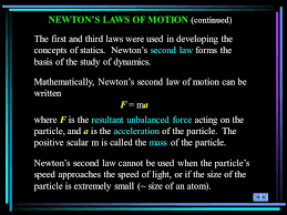 newton s laws of motion continued